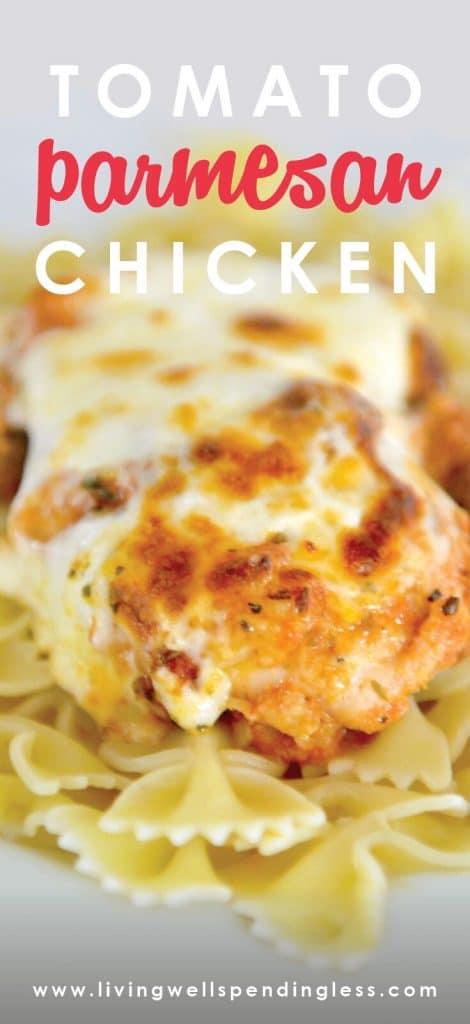 Tomato Parmesan Chicken | Chicken Recipe | Easy Tomato Parmesan Chicken | Freezer Meals | 10 Meals in an Hour