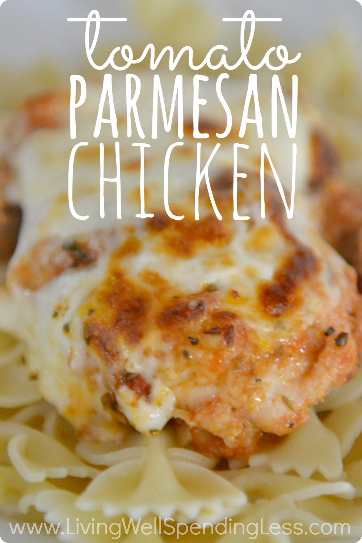 Tomato Parmesan Chicken Vertical 2 - Living Well Spending Less®