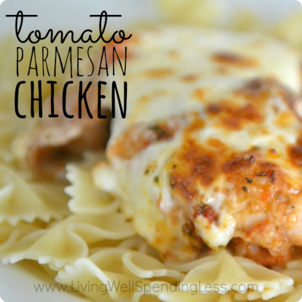 Tomato Parmesan Chicken - Living Well Spending Less®