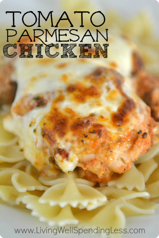 Tomato Chicken Parmesan Recipe — Dishmaps