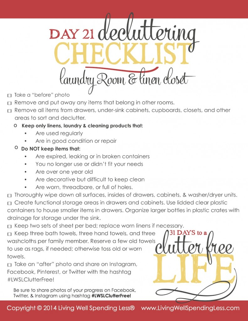 31 Days To A Clutter Free Life Laundry Room Amp Linen Closets Day 21 Living Well Spending Less 174