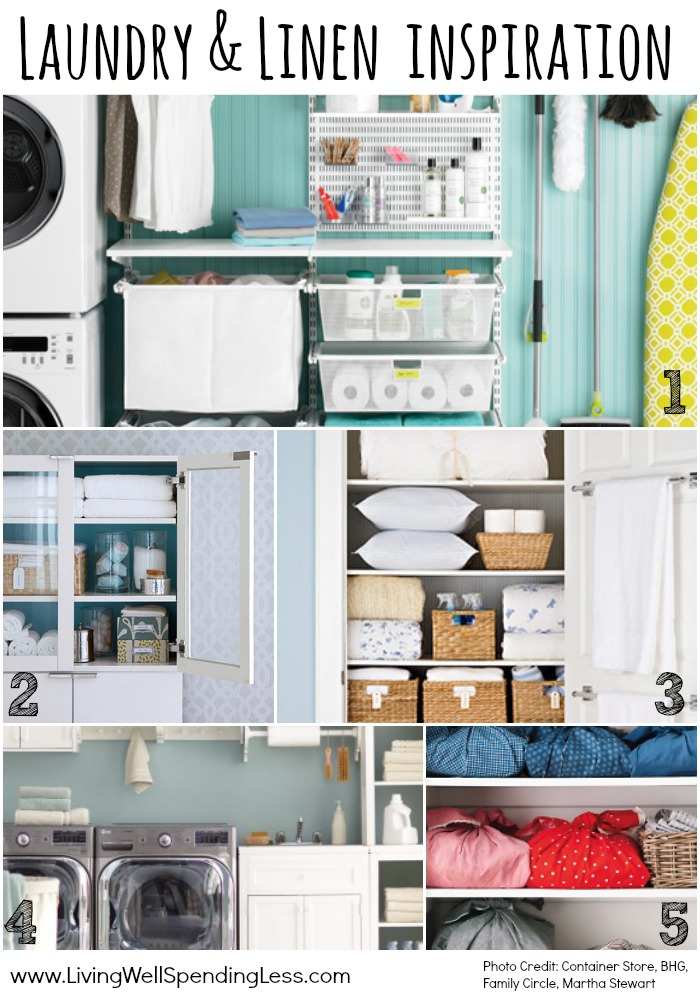 Here is some inspiration for your laundry room and linen closet!