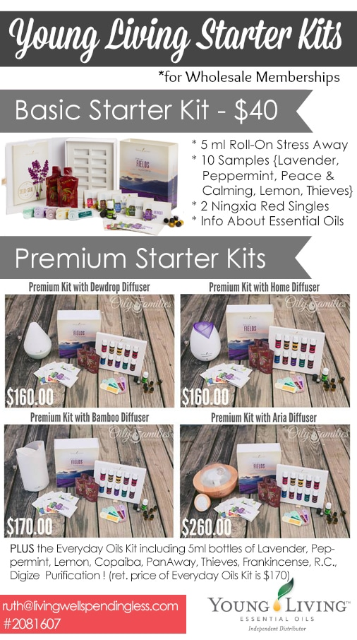 Young Living Essential Oil Starter Kits and Details.