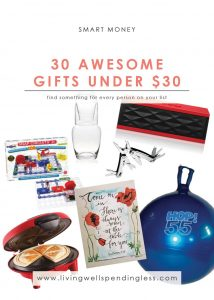 30 Awesome Gifts Under $30 | Money | Christmas Holidays & Special Occasions | Money Saving Tips | Gift Ideas under 30 | Cheap Gift Ideas