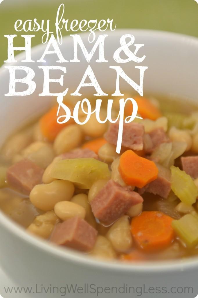 Easy Freezer Ham and bean soup.