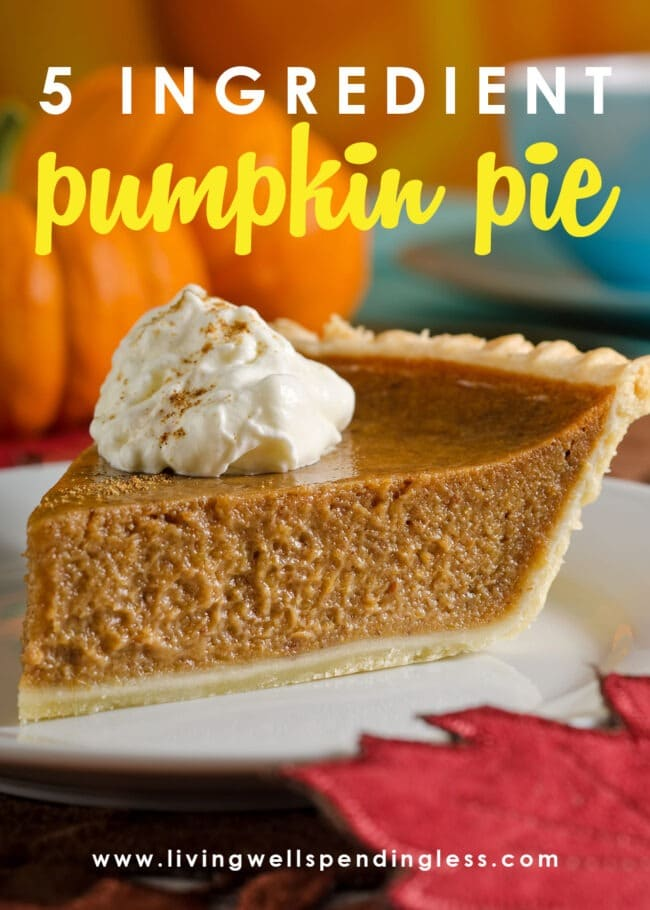 Looking for a perfect pumpkin pie recipe? This super easy pumpkin pie comes has only five simple ingredients and is totally foolproof.