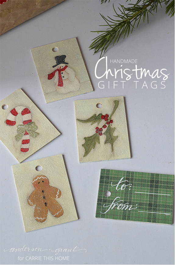 Handmade Christmas Gift Tags from anderson + grant for Carrie This Home
