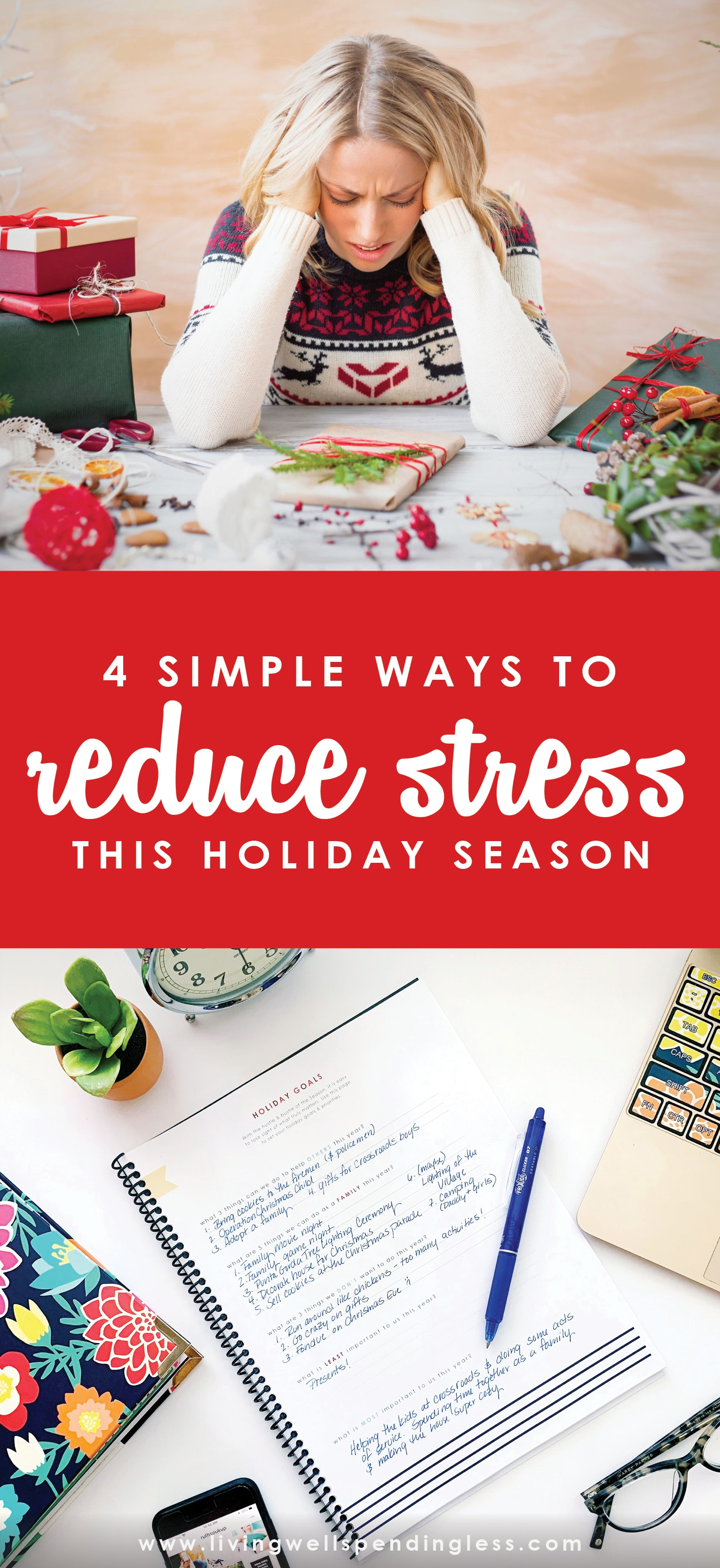 4 Simple Ways to Reduce Holiday Stress This Season | How to Reduce Holiday Stress