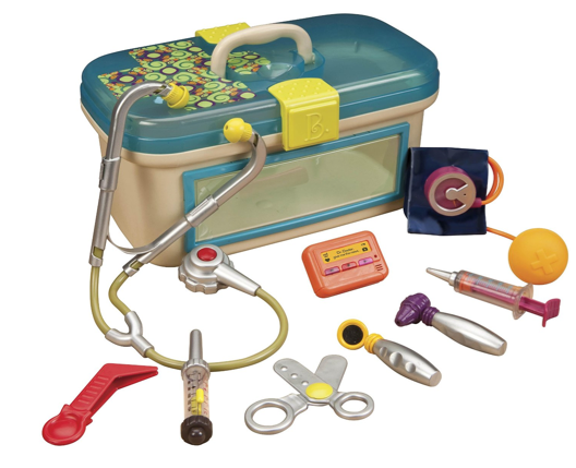 Got a mini doctor in the family? This B Dr. doctor's toys kit will have your kids running around taking care of everyone in the family.