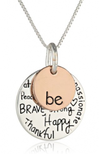 "This inspirational ""Be"" necklace is the perfect addition to an outfit for your mom, sister, or aunt!"