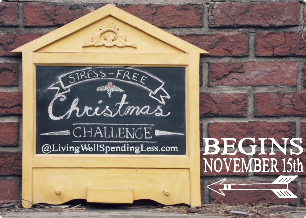 Stress Free Christmas Challenge Begins November 15th