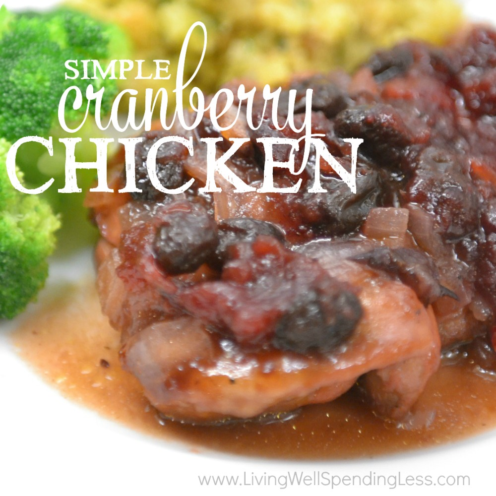 Simple Cranberry Chicken