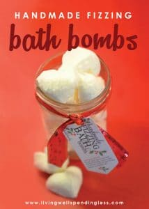 These fun fizzing bath bombs are a breeze to make and make a fantastic handmade gift idea! Don't miss this detailed tutorial for step-by-step instructions on how to make your own homemade bath bombs.