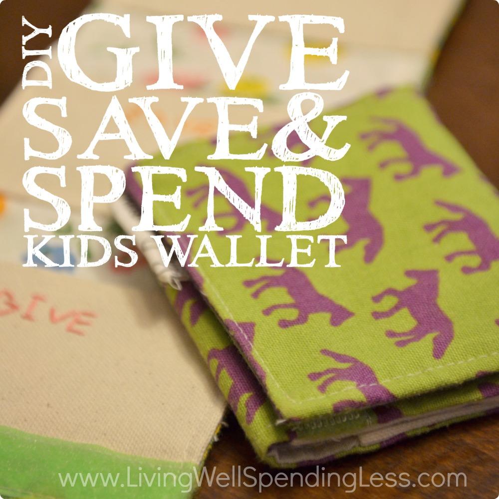 Diy give save spend kids wallet diy gift ideas diy give spend save kids wallet tutorial diy kids wallet handmande wallet jeuxipadfo Choice Image