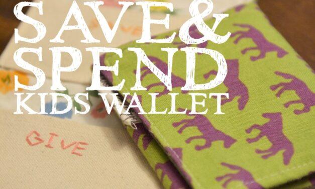 DIY Give Save & Spend Kids Wallet