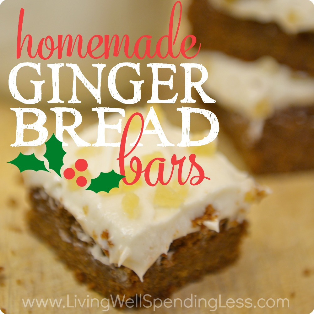 Easy Homemade Gingerbread Bars
