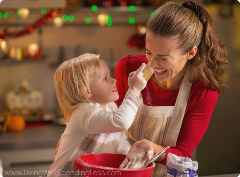 Christmas break is a great time to make memories by cooking with your kids.