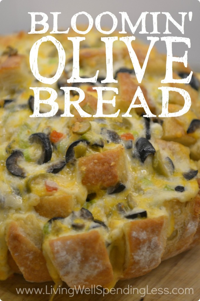 Bloomin' Olive Bread | Olive Bread Recipe | DIY Olive Bread | Easy Bread Recipe | Make Your Own Bread | Healthy Food | Vegetarian Choices | Healthy Carbs