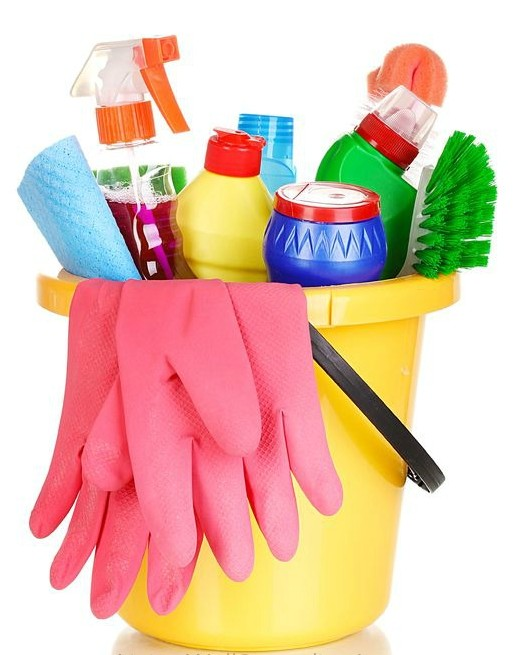 Gather your bucket of housekeeping supplies--housekeeping is one of the life skills everyone should learn!
