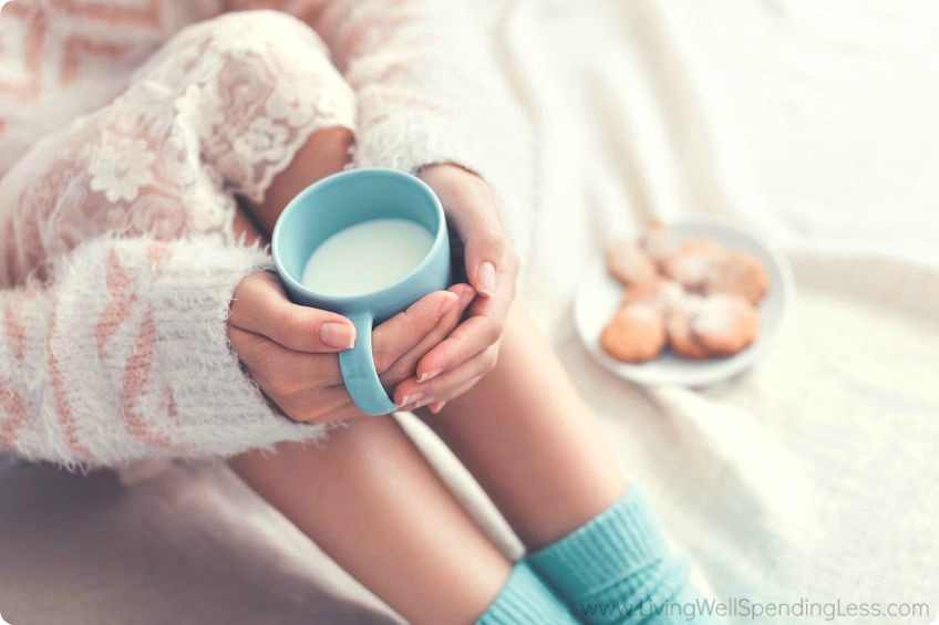 Taking time for yourself to relax and drink something warm is a smart way to combat seasonal sadness.