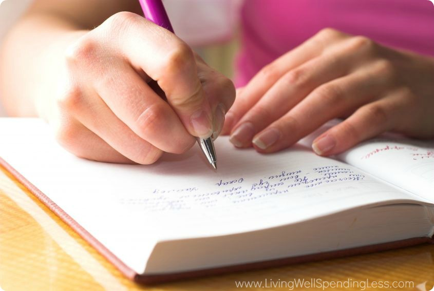 Journaling your thoughts, feelings, goals, and dreams.