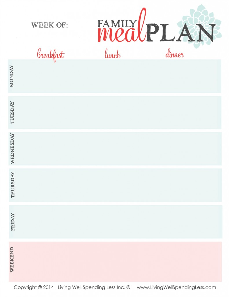 worksheet Meal Planning Worksheet menu planning worksheet humorholics meal 101 how to plan your meals around store sales