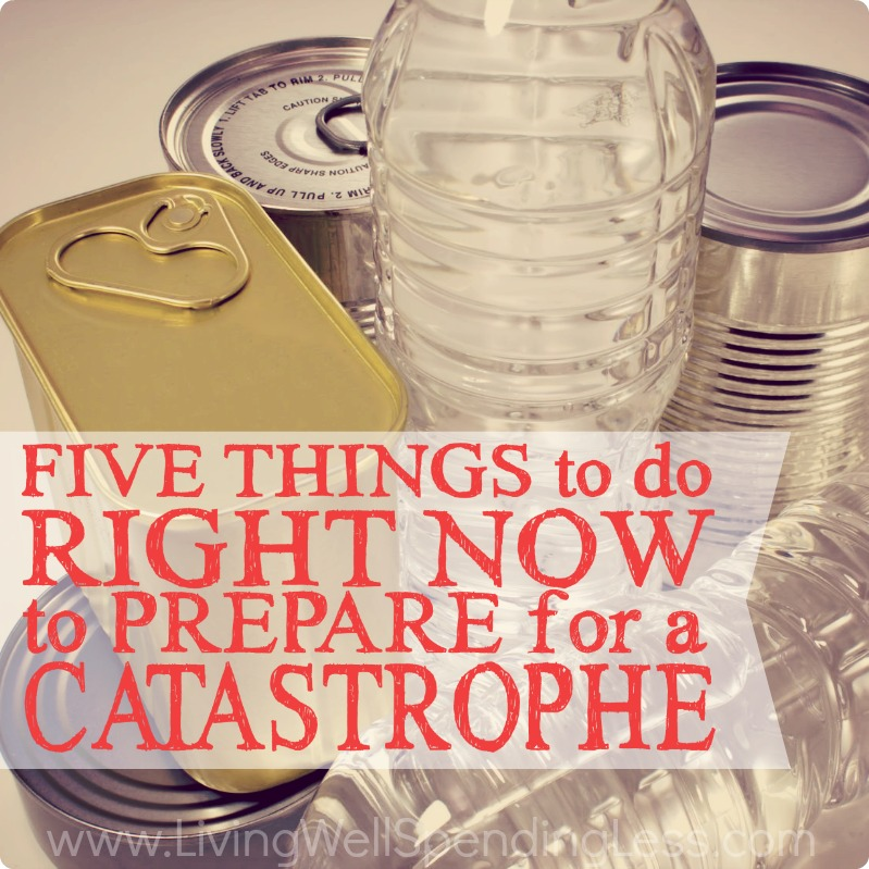 5 Things to do Right Now to Prepare for a Catastrophe   Cleaning & Organizing   Debt Free Living   Gardening   Health & Wellness   Money Saving Tips   Emergency Fund