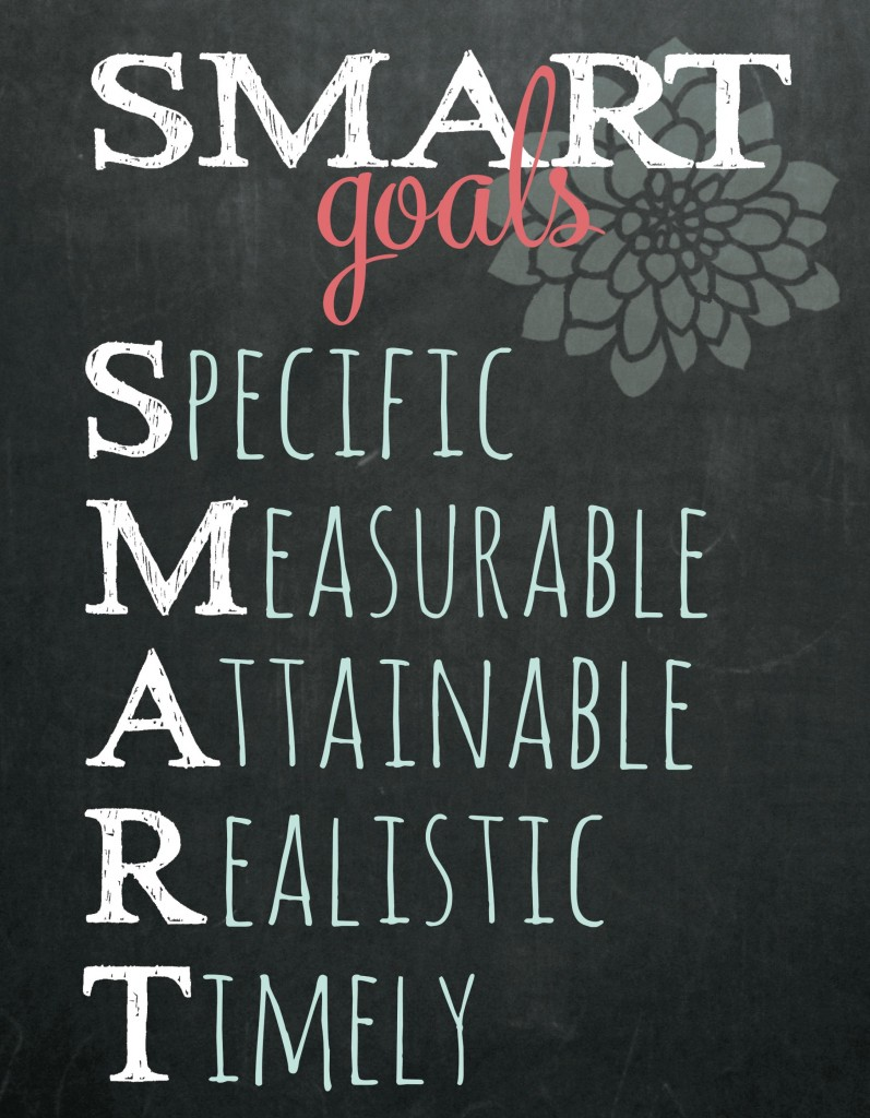 Set SMART goals for yourself that are specific, measurable, attainable, realistic and timely.