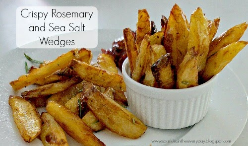 Crispy Rosemary and Sea Salt Wedges close up 500x