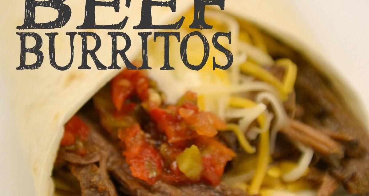 Crockpot Beef Burritos