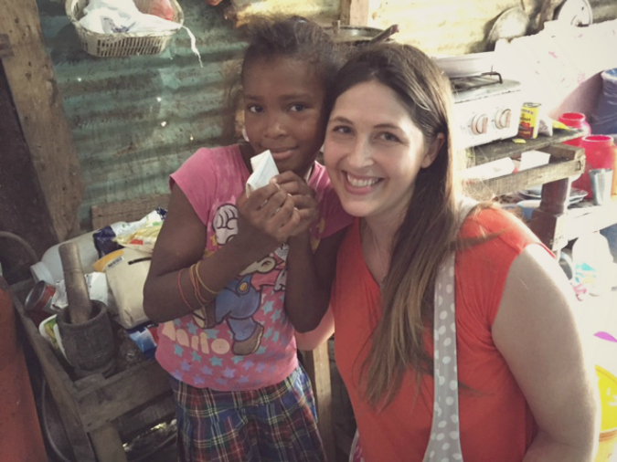 With a sweet friend in the Dominican Republic during my trip, where I realized just how much we truly have.