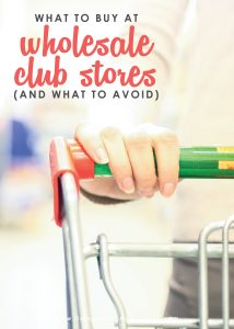 Get the skinny on which items will actually save you money at stores like Sam's Club, Costco, & BJs. This detailed post shares the secrets of what to buy at wholesale club stores (as well as which items to avoid!)