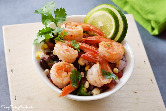Shrimp-black-bean-salad