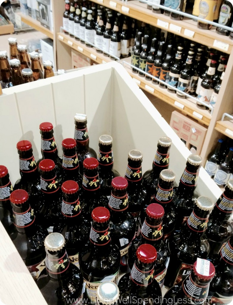 Beer, wine and liquor are often found at a discounted price when you shop at Costco or Sam's Club.