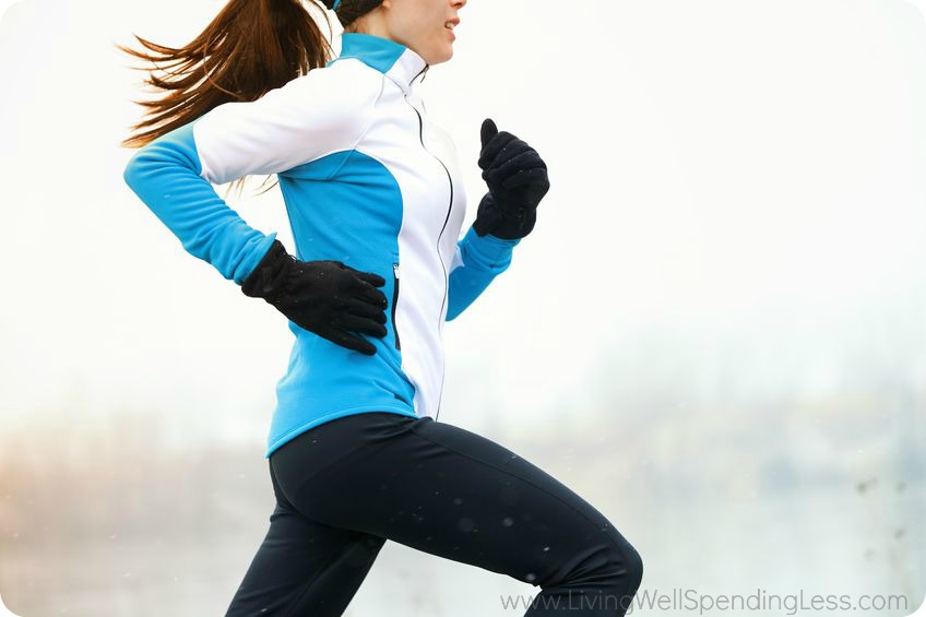 Staying active and exercising is a great way to stay happy during the winter.