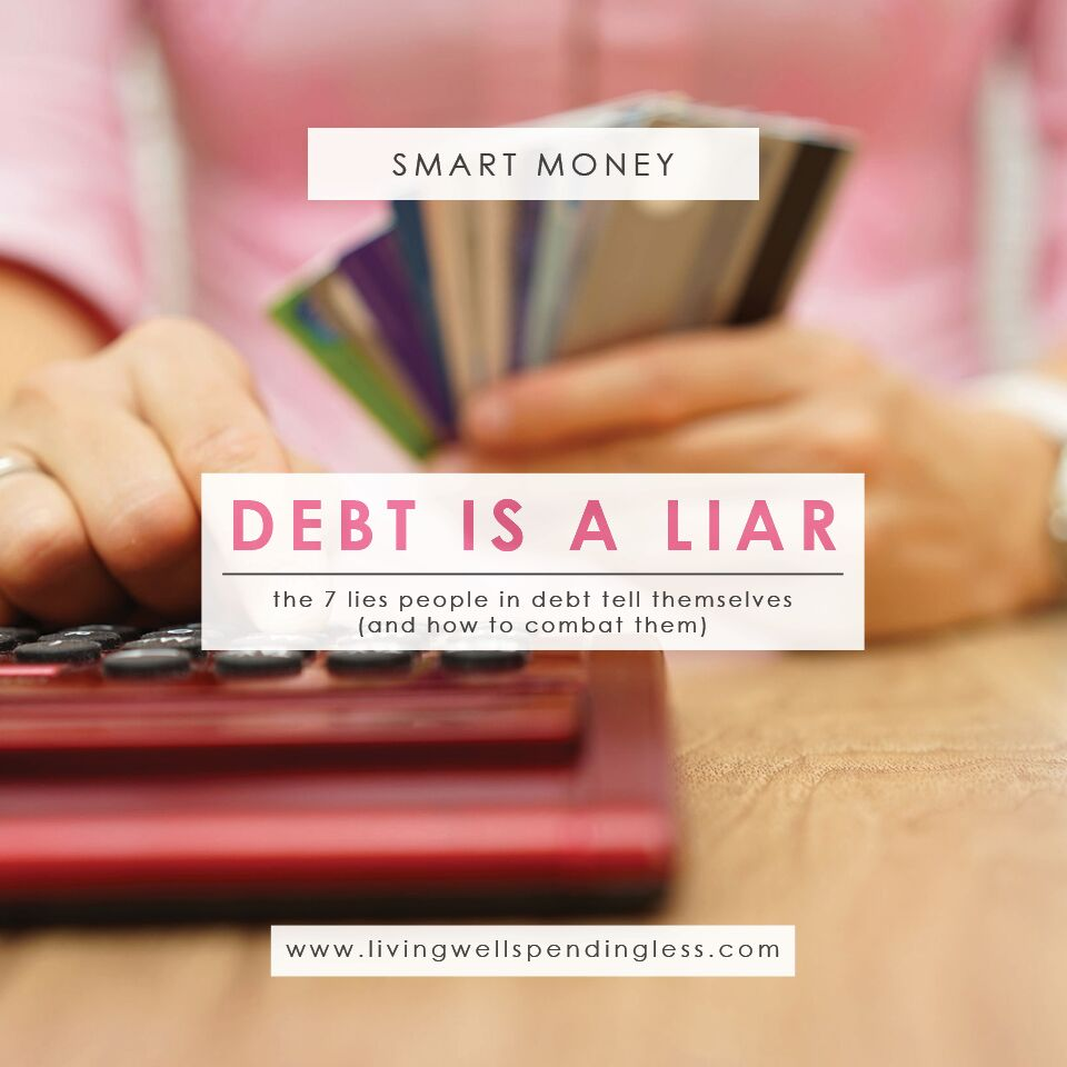 Use these tips to combat these common 7 Lies People in Debt Tell Themselves.