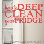 Deep Clean Fridge Square