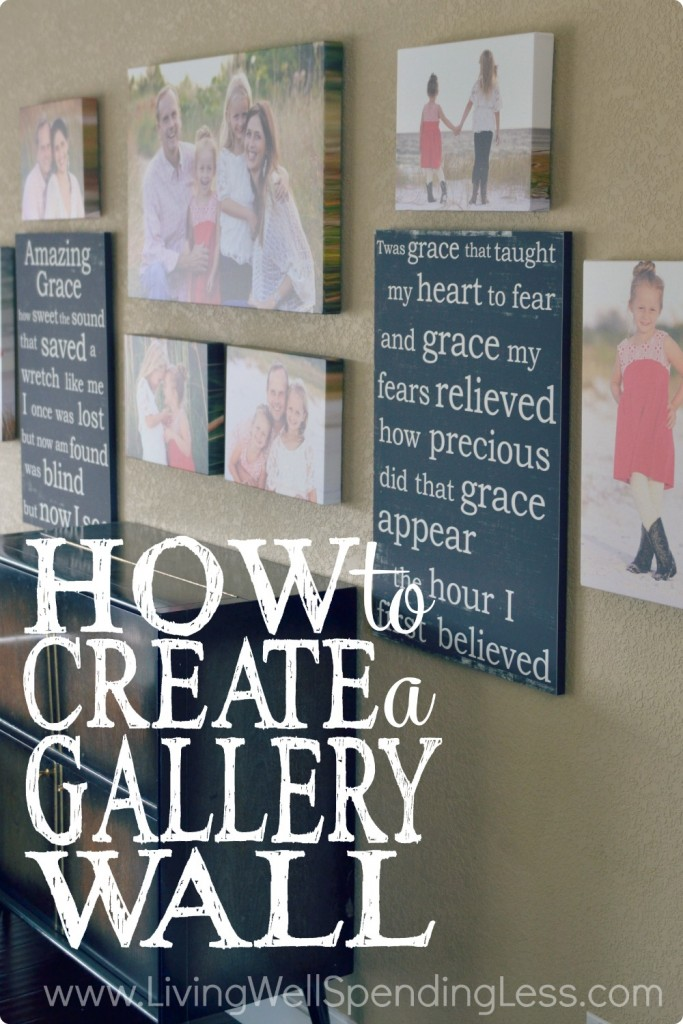 The final step of How to Create a Gallery Wall is to hang your pictures!