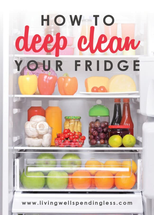 Is your refrigerator looking a little dirty? It may be time to deep clean your fridge! Keep your fridge squeaky clean with this step-by-step guide.