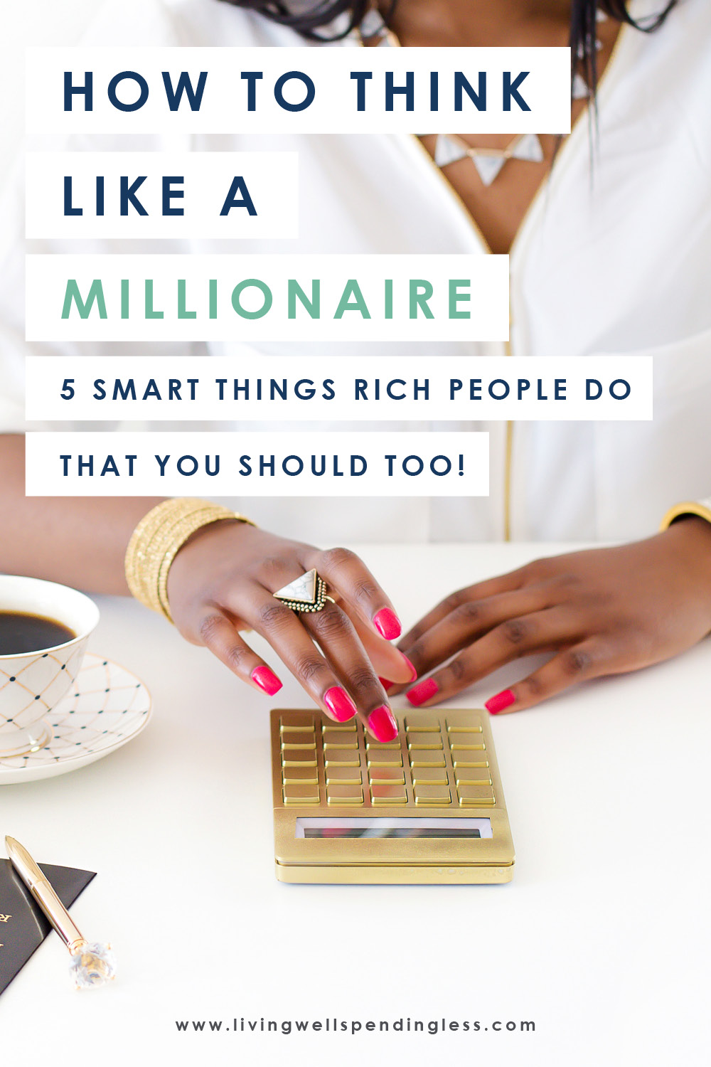 Ever wondered what sets millionaires apart from the rest of us? Surprisingly, it's not fancy cars, private jets, or big houses, but often simply the way they THINK about money. If you've ever wished you could make it big, don't miss these five smart tips for how to start thinking like a millionaire! #millionaire #milliondollarmindset #moneymindset #mindset