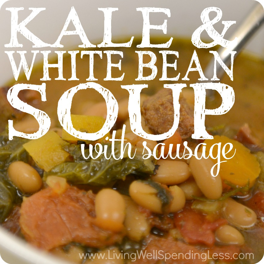 Kale & White Bean Soup with Sausage | 10 Meals in an Hour | Freezer Cooking | Freezer Meals | Quick Soup Recipes