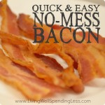 No Mess Bacon Square