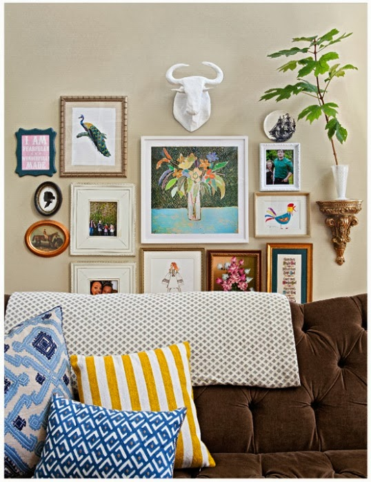 Step 3 of How to Create a Gallery Wall is to choose a theme!