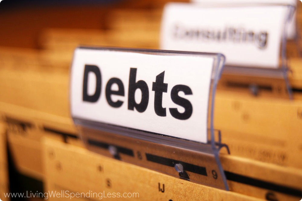 Budgeting yourself and paying off debts helps reduce stress.