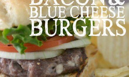 Easy Freezer Bacon & Blue Cheese Burgers