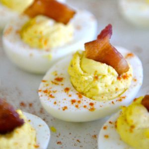 Best ever Deviled Eggs with Bacon, these are so good!!