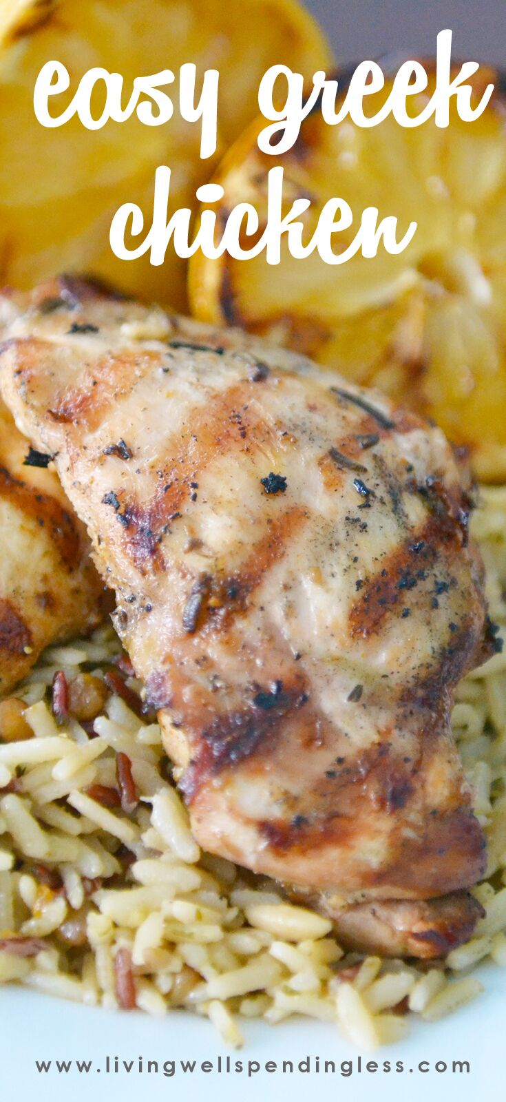 Easy Greek Chicken that's delicious, flavorful and moist.