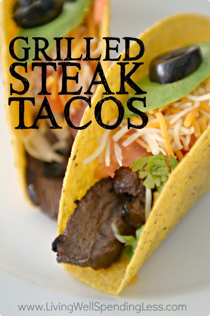 Easy Grilled Steak Tacos | Freezer Friendly Steak Taco Recipe