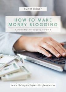 Have you ever wondered if it is really possible to make a full time living from a blog? When I first started blogging, I made a ton of mistakes and learned some very hard lessons along the way, and I swore that if I ever figured it out, I would help everyone I could! Don't miss this helpful post to find out exactly how to get started with blogging in just five easy steps!