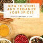 Store & Organize Your Spices | Cleaning & Organizing | DIY Spice Drawer | Spice Rack